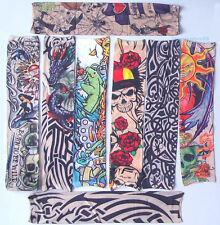 8 Mixed Fake Temporary Tattoo Sleeves Arm Stockings Goth So CooL