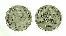 pci3540) MONNAIE 20 CENT ARGENT NAPOLEON III 1866 A