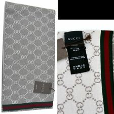 GUCCI Authentic New GG Guccissima Web Designer Wool Mens Womens Scarf