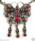 TAXCO MEXICAN STERLING SILVER JASPER BUTTERFLY NECKLACE MEXICO
