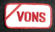 """VONS EMBROIDERED SEW ON PATCH CALIFORNIA GROCERY STORE SAFEWAY 3 3/4"""" x 2"""""""