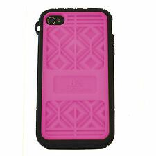 MUSUBO Hard Plastic Case Swappable Back Cover  Apple iPhone 4/4S - PINK + Blue