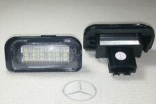 2x LED LICENSE PLATE CANBUS LIGHT MERCEDES BENZ W203 4D C CLASS MATRICULA TARGA