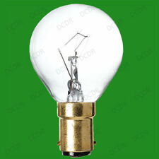 10x 60W Clear Incandescent Dimmable Round Golf Ball Light Bulbs, SBC, B15 Lamps