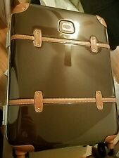 "NEW Brics DARK BROWN Bellagio Metallo 21"" Spinner Luggage Carry-on Bric's"