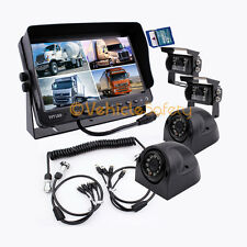 "4AV TRAILER CABLE 9"" MONITOR WITH DVR REAR VIEW CAMERAS BACKUP SYSTEM SAFETY"