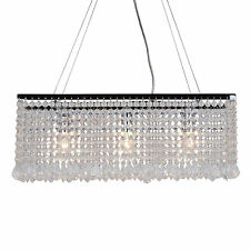 Modern Chrome & Clear Beads Ceiling Light Kitchen Dining Fitting Pendant