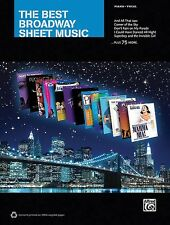 The Best Broadway  Sheet Music Piano Vocal Guitar SongBook NEW 000322453