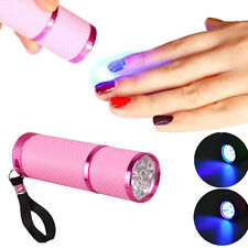 Portable LED Nail Dryer Curing Lamp Flashlight Torch For UV Gel Nail Pink US