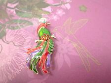 Paradiesvogel Straß Brosche Modeschmuck Vogel Papagei Anstecknadel