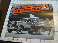Awesome 1935 DODGE 1 1/2 TON TRUCK POSTER/BROCHURE