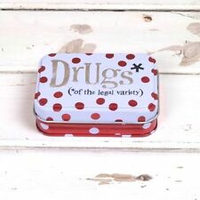 Drugs of the Legal Variety Storage Tin by The Bright Side Tin/Pill Box/Keeper