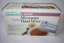 Vintage Sunbeam Mixmaster Hand Mixer 4 Speed White 03151 NOS 1988 NIB