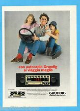 QUATTROR982-PUBBLICITA'/ADVERTISING-1982- GRUNDIG AUTORADIO
