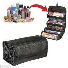 Portable Roll N Go Travel Buddy Cosmetic Bag W/ Snap-Shut Flap And Hang Tag