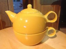 New Old Amsterdam Porcelain Works Lead Free Tea for One, yellow.