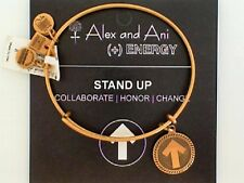 Genuine Alex and Ani Stand Up to Cancer Gold Tone Bracelet NWT and Card
