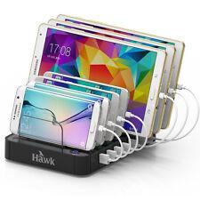 7-Port Desktop USB Multi  Charging Station Dock  black
