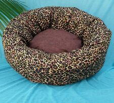 "Starbarks Pet Beds Small 12"" Washable Ortho Nesting Leopard Dog Cat Pets Bed USA"