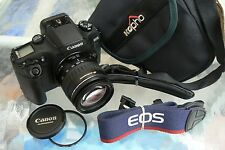 CANON EOS ELAN 7N CAMERA & CANON 28-105MM USM LENS *PRO 35MM SLR CAMERA *MINT