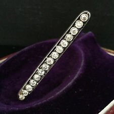 Antique Exquisite Edwardian French 18ct white Gold Diamond bar brooch Circa 1910