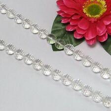 Strang Weiß BergKristall 12mm kugeln facettiert Lose Perlen
