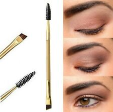 Pro Double End Eyebrow Flat Angled Eyeliner Brow Mascara Brush Make Up