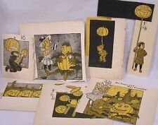 Vintage LOT Halloween Paper Clippings Evil JOL Imagery 1920s