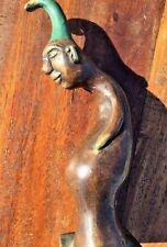 Bronze Wizard Pagan Elf  Sculpture Freaky Creepy Figure