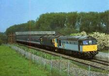 Diesel Class 33 33021 & 33022 Railtour at Kettering unused 1989 postcard