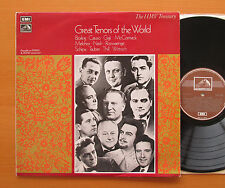 HLM 7004 Great Tenors Of The World Bjorling Caruso Gigli HMV Treasury NM/EX