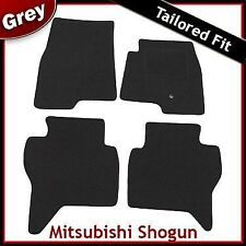 MITSUBISHI Shogun LWB montato su misura moquette tappetini GRIGIO (2000... 2006 2007)