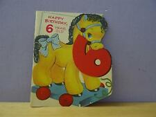 FOLDING BIRTHDAY CARD 6 YEARS TOY HORSE SAPPHIRE CARD CLEVELAND OHIO