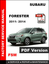 SUBARU 2011 2012 2013 2014 FORESTER OEM WORKSHOP REPAIR SHOP SERVICE MANUAL
