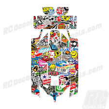 Losi 8IGHT-E 2.0 RC Graphic Kit Decal Wrap 1/8 Buggy Body Sticker Bomb