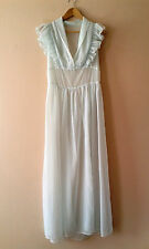 50s 60s vintage see-through ample longue nuit robe lingerie negligee