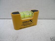 STABILA BASIC NON MAGNETIC POCKET SPIRIT LEVEL 17773