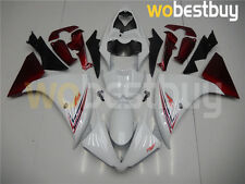 White Injection Molding Fairing Fit for Yamaha YZF R1 2012-2014 ABS Bodywork d14
