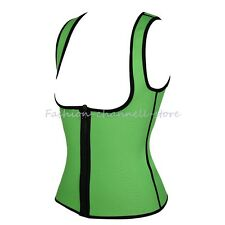 Women's Neoprene Body Shaper Vest Ultra Sweat Sport Bodysuit Sauna Suit Zipper D