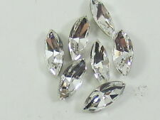 12pcs. 5x2.5mm CRYSTAL NAVETTE FOILED POINTED BACK swarovski rhinestone