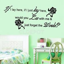 If I Lay Here Wall Stickers Decals Bedroom Art Mural Home Decor Removable