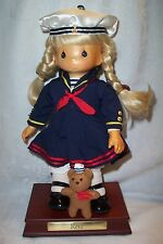Precious Moments Carved Face Sailor Navy Doll Rene Limited Edition 980/1000