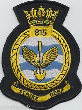 815 Naval Air Squadron Royal Navy Embroidered Crest Badge Patch MOD Approved