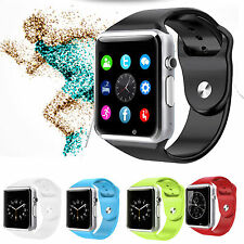 A1 Bluetooth Smart Watch SIM TF Card Phone For Android Samsung Sony iPhone Black