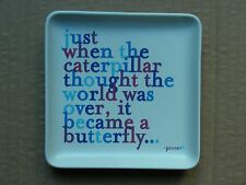 QUOTABLE SMALL SQUARE CERAMIC PLATE DISH, # TRD54, 2013