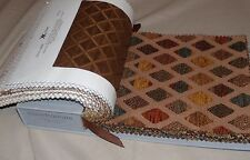 "Kravat Couture Upholstery Fabric Sample Book 30 Warm Woven Colors 8.5"" x 7.5"""