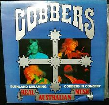 COBBERS - BUSHLAND DREAMING, LIVE IN CONCERT DOUBLE VINYL LP (COVER DAMAGE)