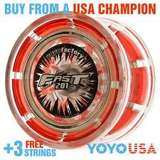 [SPRING SALE] YoYoFactory FAST/F.A.S.T. 201 Yo-Yo - Red + STRINGS