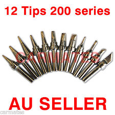 12PCs SOLDERING IRON STATION TIPs for ATTEN AT306DH AT315D HAKKO high frequency