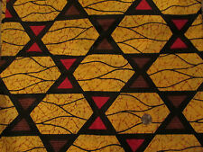 Stained glass Hour glass 2 yd fabric optic print geometric design cotton SALE